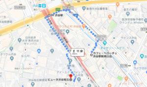Google mapGによる新南口からの迂回ルート画像です。